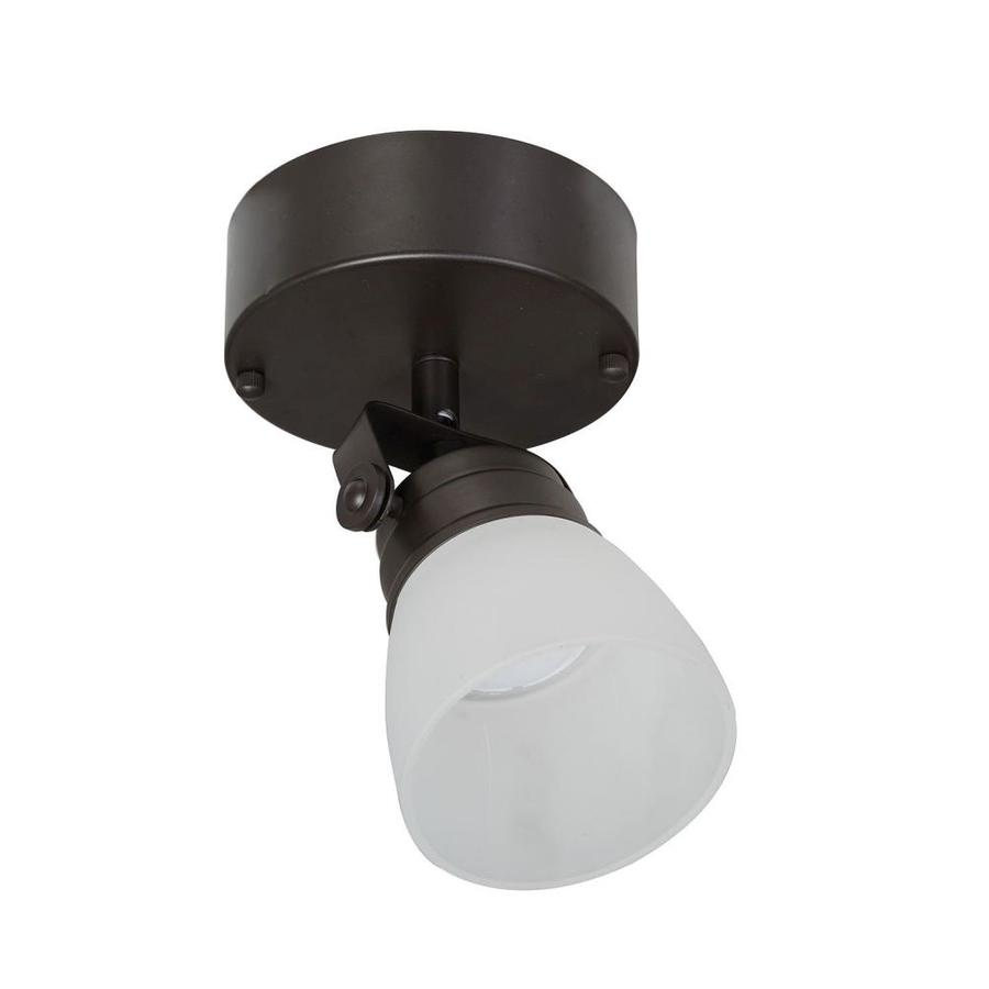 Allen Roth Tucana 1 Light 4 5 In Bronze Dimmable Led Flush Mount Fixed Track Light Kit In The Fixed Track Lighting Kits Department At Lowes Com