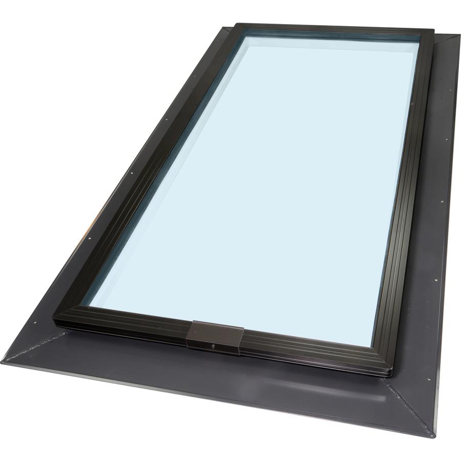 Ventana para techo Skylight PVC, 66 x 118 mm, con marco de cubierta, Ug = 1,0 W2mK