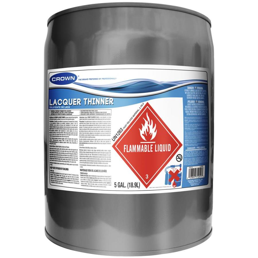 Shop Crown 5 Gallon Lacquer Thinner at Lowes on PopScreen