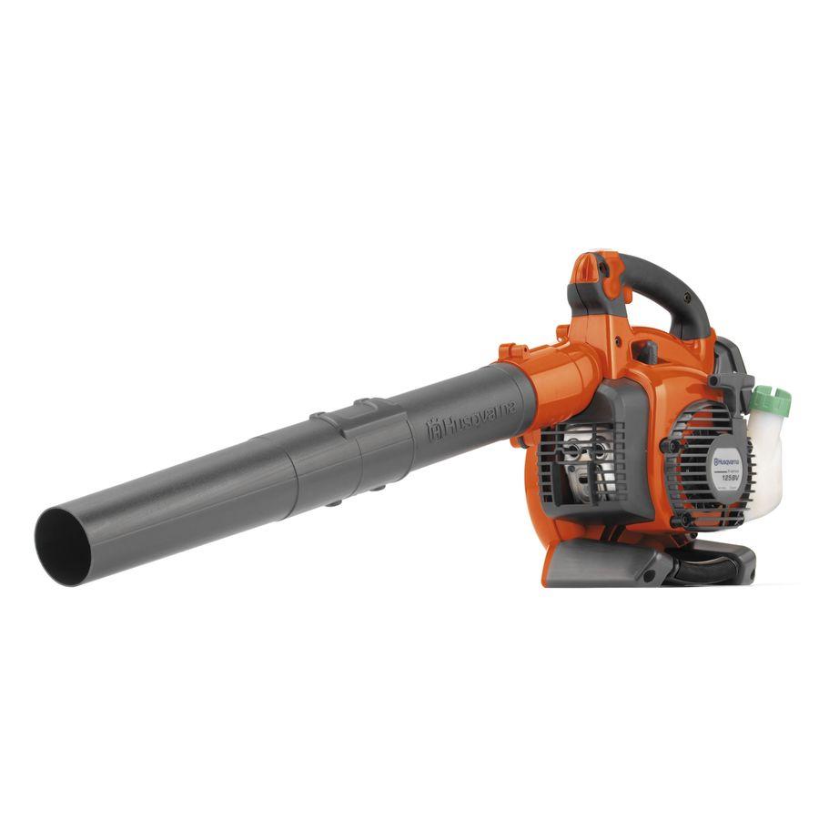 Husqvarna 125BVX 28-cc 2-Cycle 170-MPH 470-CFM Handheld Gas Leaf Blower with Vacuum Kit in Orange   952711902