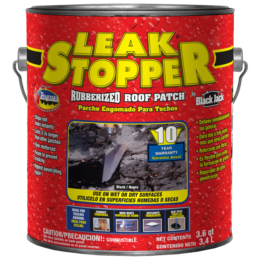 Shop LEAK STOPPER 3.6-Quart Fibered Waterproof Cement Roof