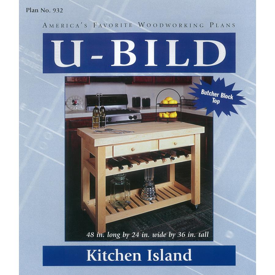 Shop U-Bild Kitchen Island Woodworking Plan at Lowes.com