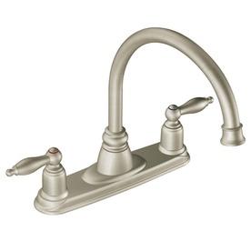 Moen castleby chrome 2 handle high arc sink counter mount - Mico designs seashore kitchen faucet ...