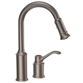 Display Product Reviews For Aberdeen Oil Rubbed Bronze 1 Handle Deck Mount  Pull Down