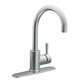 Moen level chrome 1 handle high arc sink counter mount - Mico designs seashore kitchen faucet ...