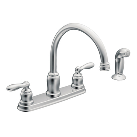 Shop Moen Caldwell Chrome 2 Handle High Arc Kitchen Faucet