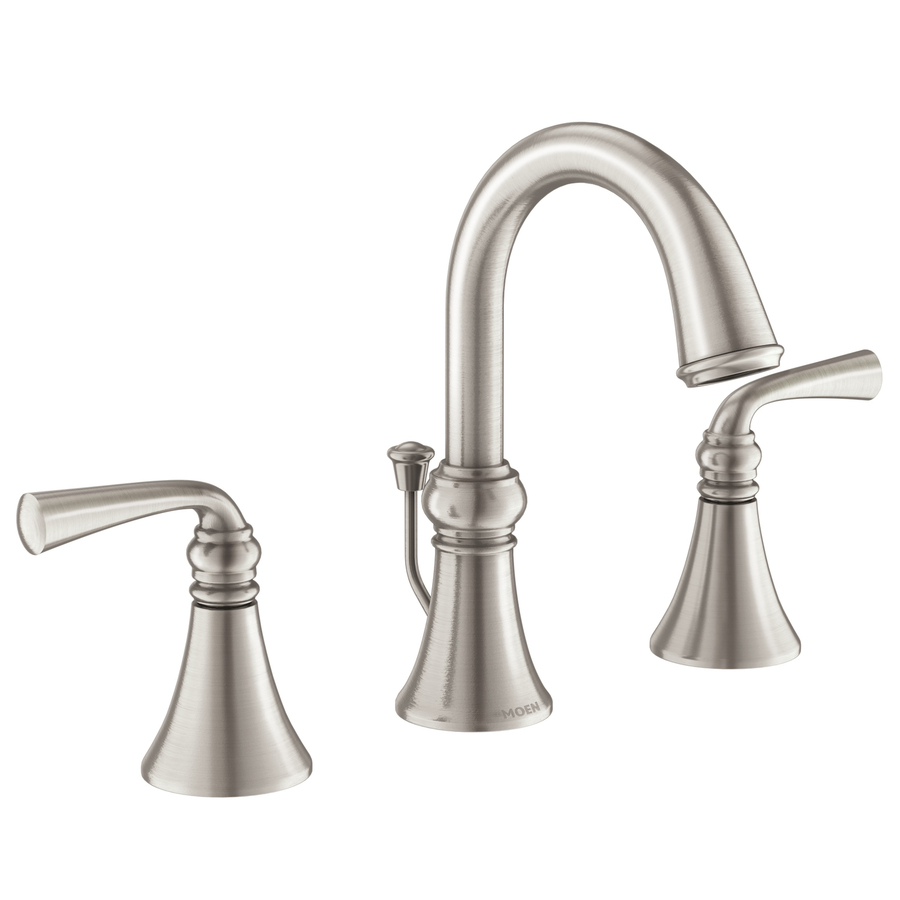 Cool Moen Wetherly Spot Resist Brushed Nickel 2 Handle Widespread Home Interior And Landscaping Mentranervesignezvosmurscom