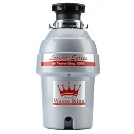 Waste King Legend Series 1-Hp Continuous Feed Noise Insulation Garbage Disposal 8000