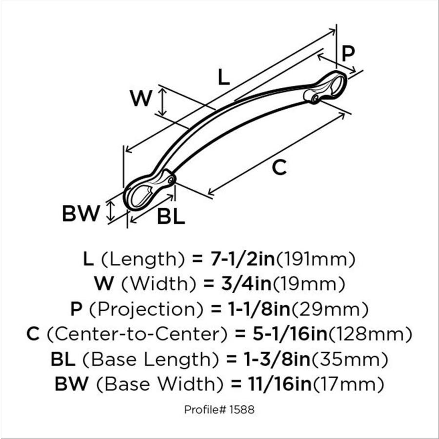 Amerock Inspirations 5 1 16 In Center To Center Satin Nickel Arch Handle Drawer Pulls In The Drawer Pulls Department At Lowes Com