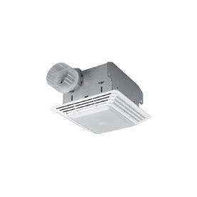 Shop Broan 2.5-Sone 80-CFM White Bathroom Fan with Light ...