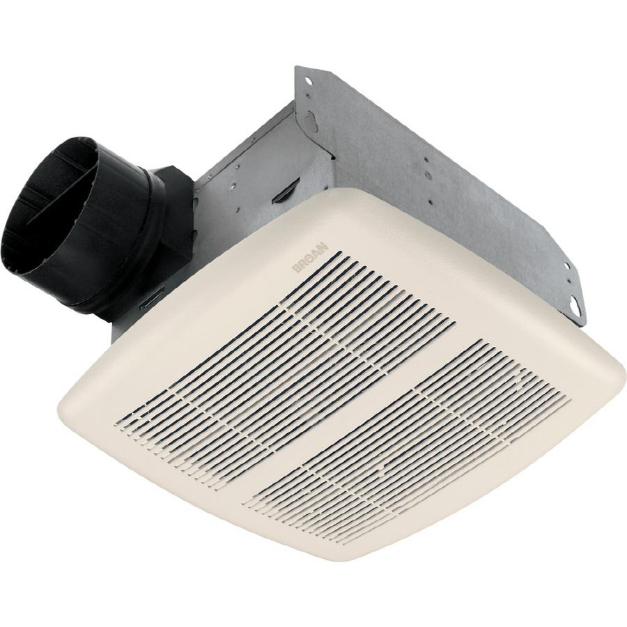 Shop Broan 2.5-Sone 80-CFM White Bathroom Fan at Lowes.com