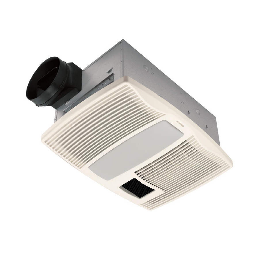 Shop Broan 0 9 Sone 110 Cfm White Bathroom Fan With Heater