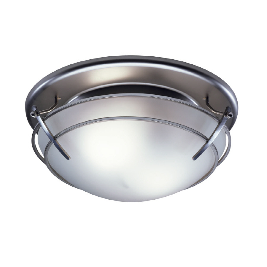 Bathroom Exhaust Fans With Lights: Shop Broan 2.5-Sone 80-CFM Satin Nickel Bathroom Fan With