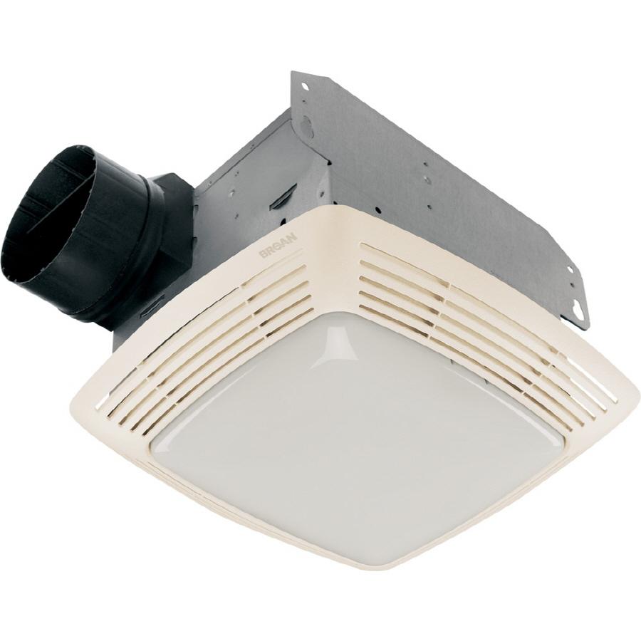Shop Broan 2.5-Sone 80-CFM White Bathroom Fan With Light