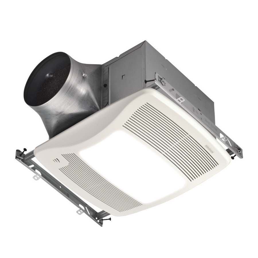Shop Broan 0.3 Sones 110 Cfm White Bathroom Fan Room And