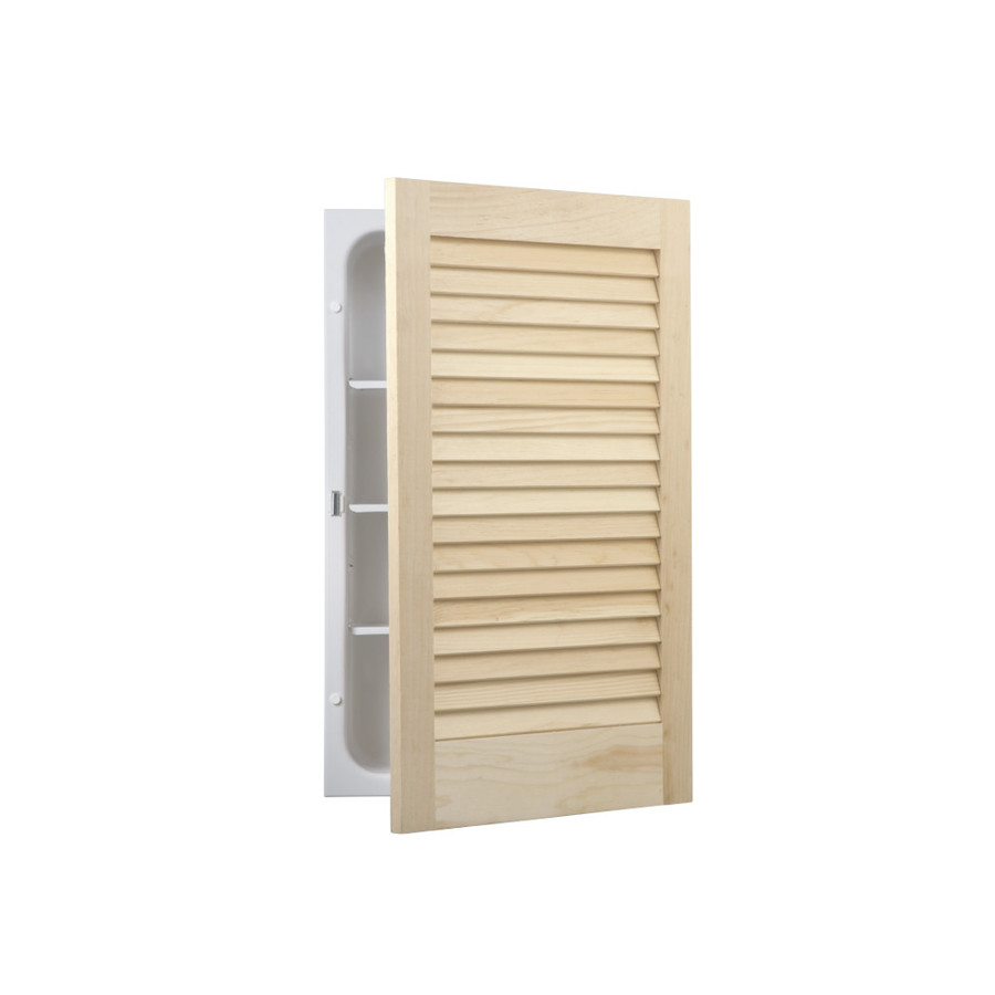Lowe S Knotty Pine Cabinets: Shop Broan Louver Doors 22-in H X 16-in W Unfinished Pine