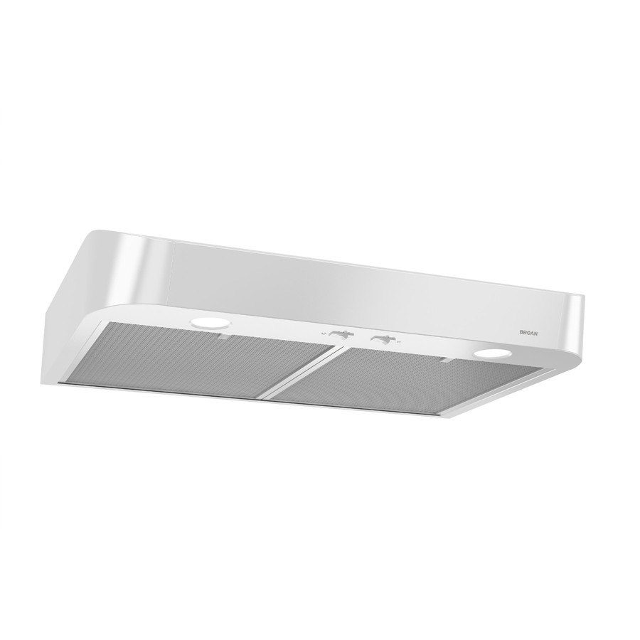 Broan 30-in Convertible White Undercabinet Range Hood (Common: 30-in; Actual: 29.875-in) | CLSC230WW