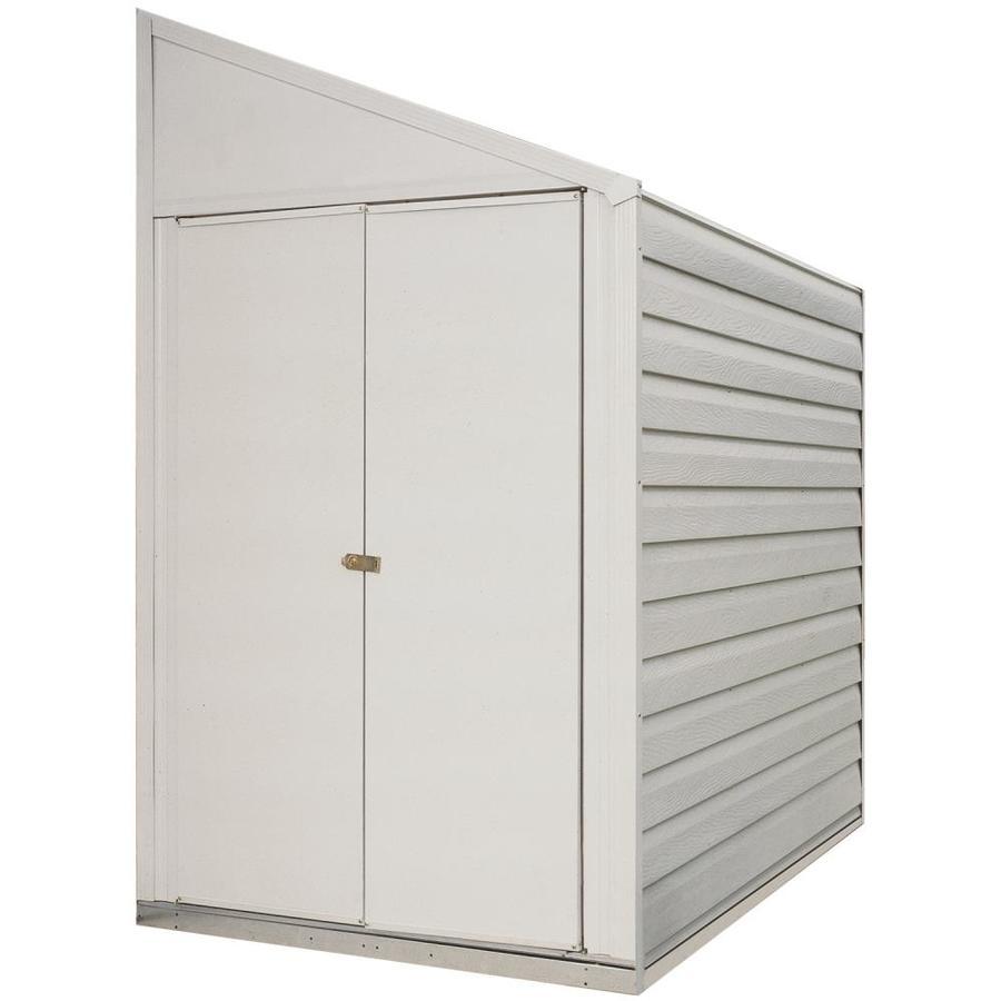 Shop Arrow Galvanized Steel Storage Shed Common 4 Ft X