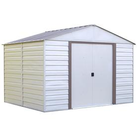 Arrow Group Vinyl-Coated Steel Storage Shed (Common: 10-F...