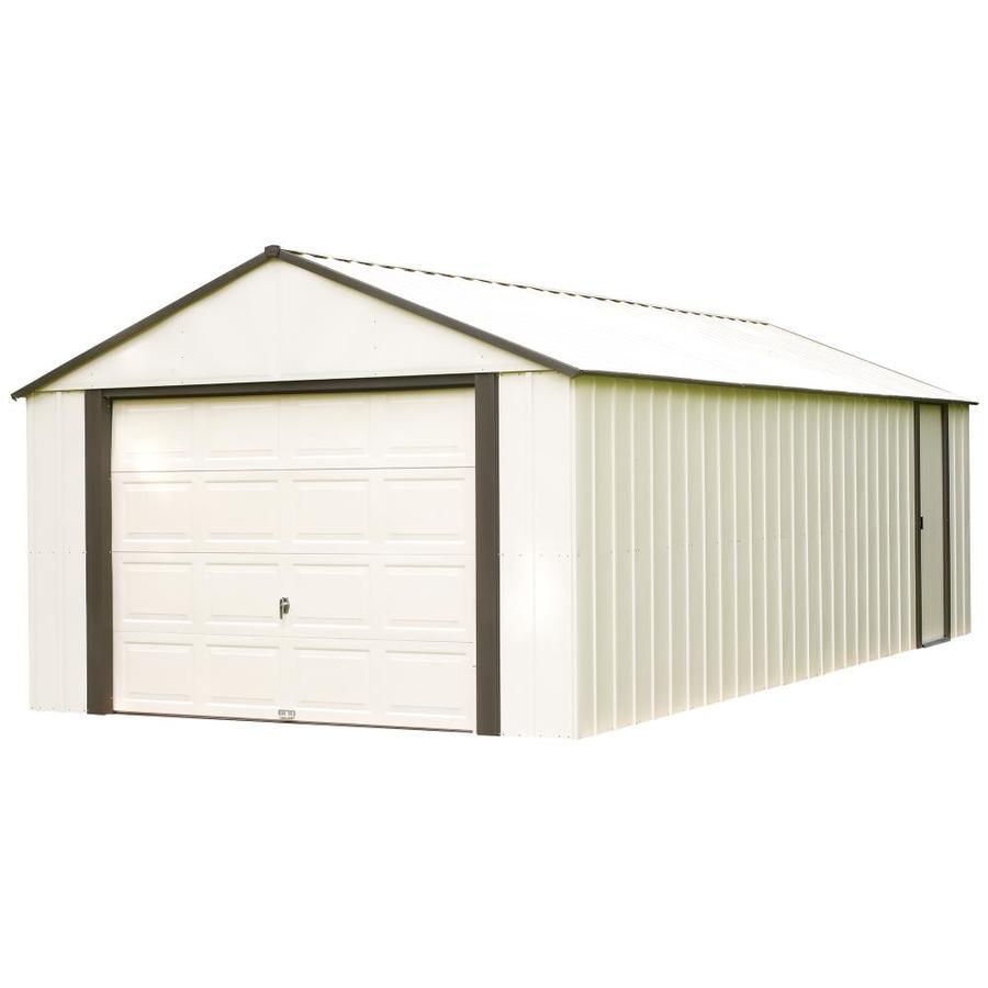 Shop arrow vinyl coated steel storage shed common 12 ft - 28 inch exterior steel door for sale ...