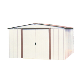 Arrow Group Galvanized Steel Storage Shed (Common: 10-Ft ...