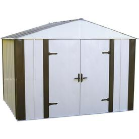Arrow Group Storage Products Designer Series 10' x 8' Shed in Sand and Java