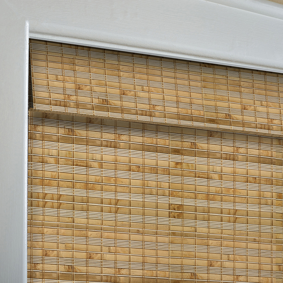 Levolor Natural Bamboo Light Filtering Woven Wood Natural Roman Shade  Common 12 in; Actual 12.12 in x 12 in