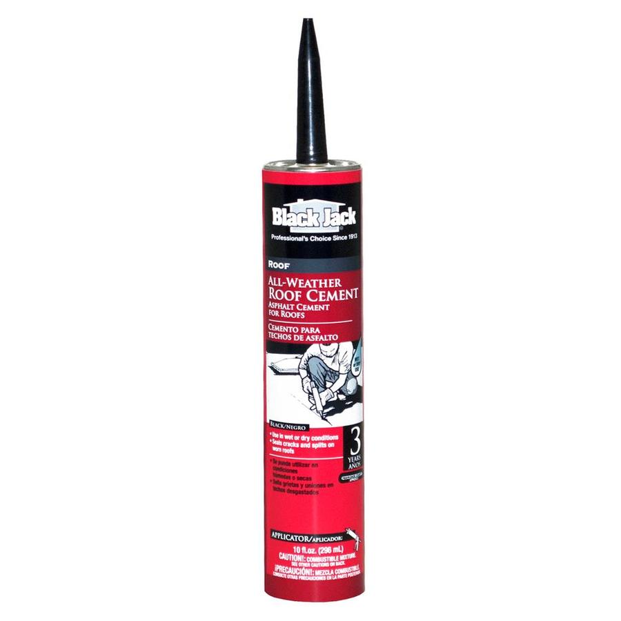 Shop Black Jack 10 Fl Oz Waterproof Cement Roof Sealant At
