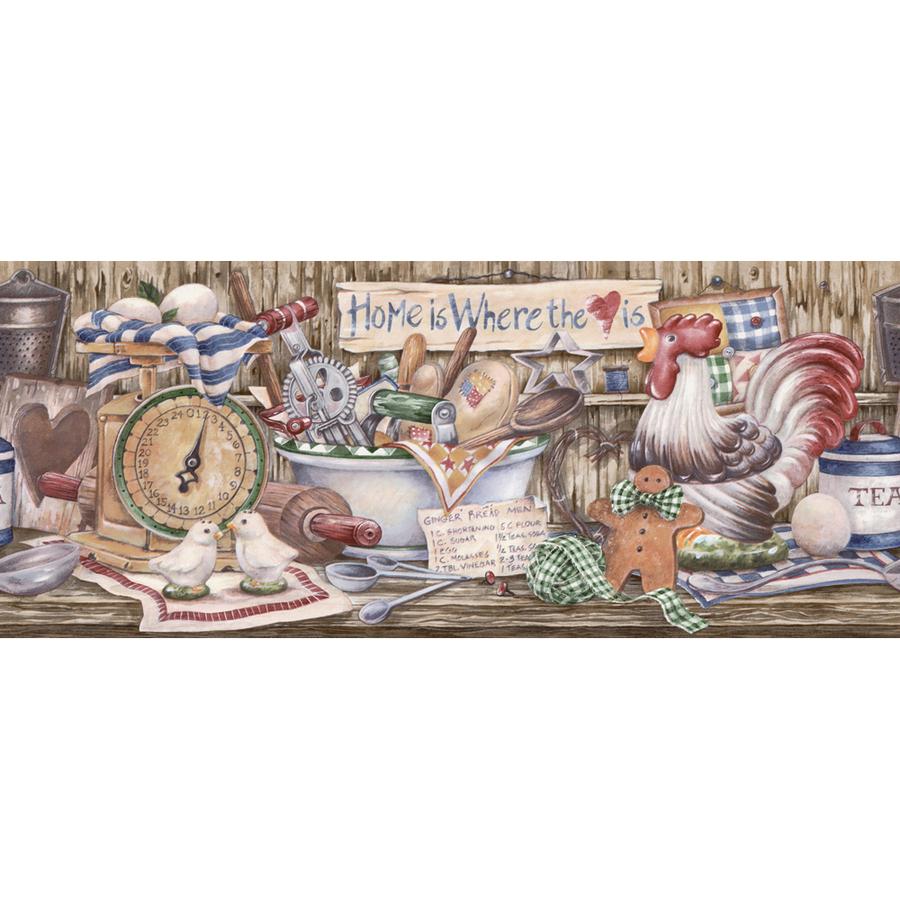 Farmhouse Country Kitchen Wallpaper Border