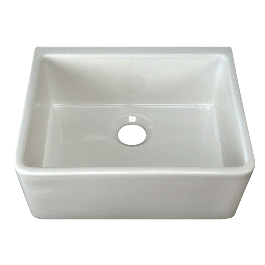 Lowes Kitchen Sink: Shop Barclay White Single-Basin Apron Front/Farmhouse