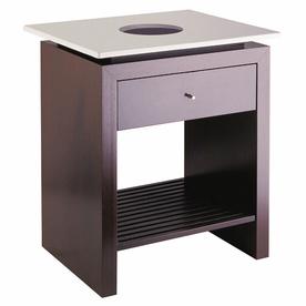 Barclay Fontana Wenge Bathroom Vanity (Common: 24-In X 18...