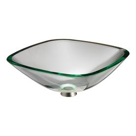 Lowes Barclay Glass Transparent Green Amp Fire Clay White