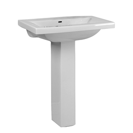 "Barclay 3-274WH Mistral 650 4"" Centerset Pedestal Bathroom Sink in White"
