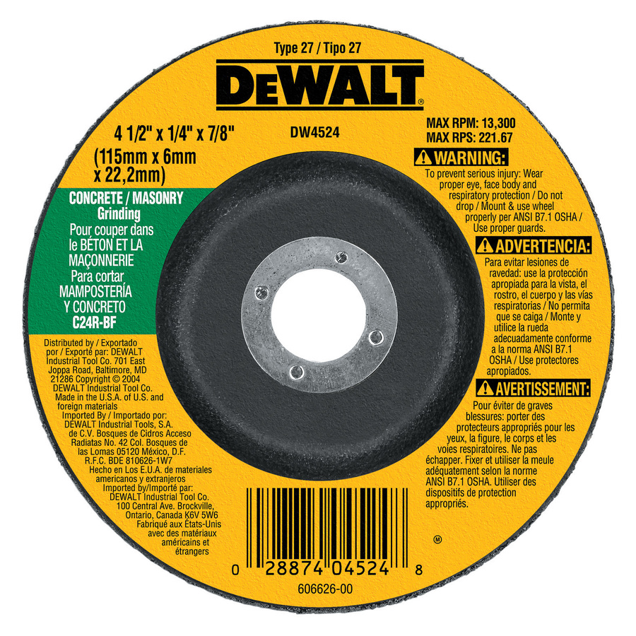 Shop Dewalt Concrete Masonry Grinding Wheel At Lowes Com