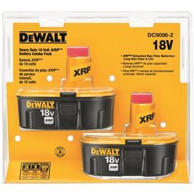 Dewalt 2-Pack 18-Volt 2.4-Amp 2.4-Amp Nickel Cadmium (Nicd) Power Tool Battery Kit Dc9096-2