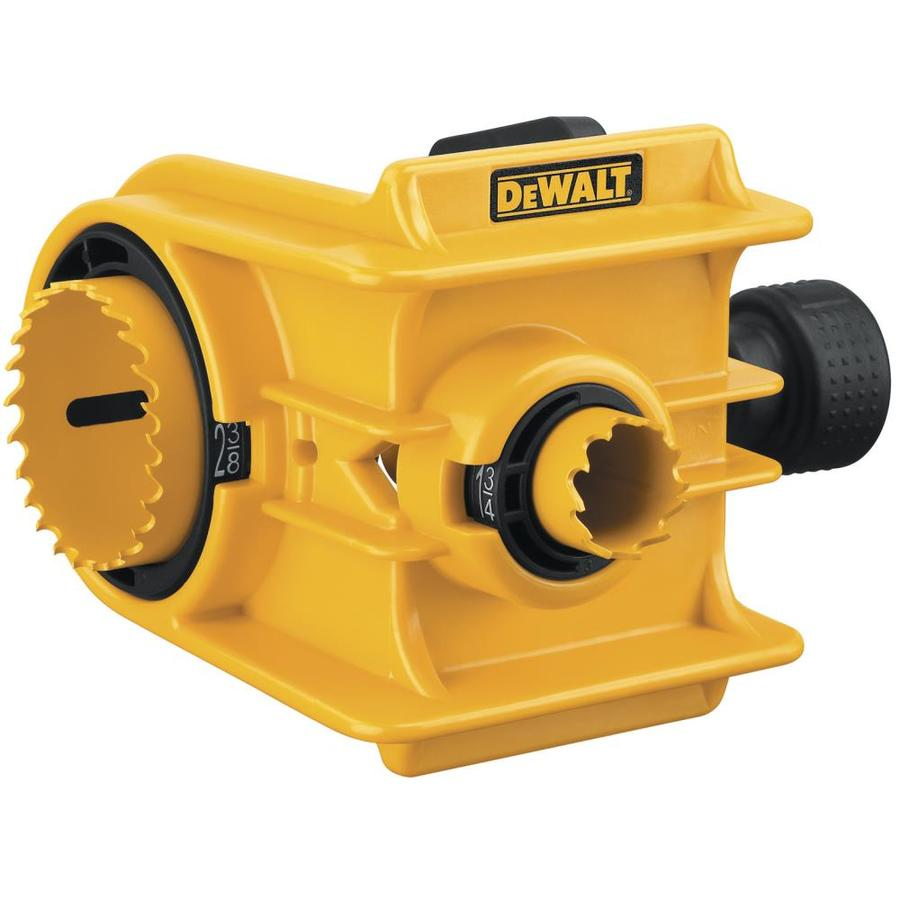 Shop Dewalt Bi Metal Door Lock Hole Saw Kit At Lowes Com
