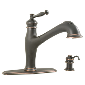 shop aquasource rubbed bronze 1 handle pull out 87854