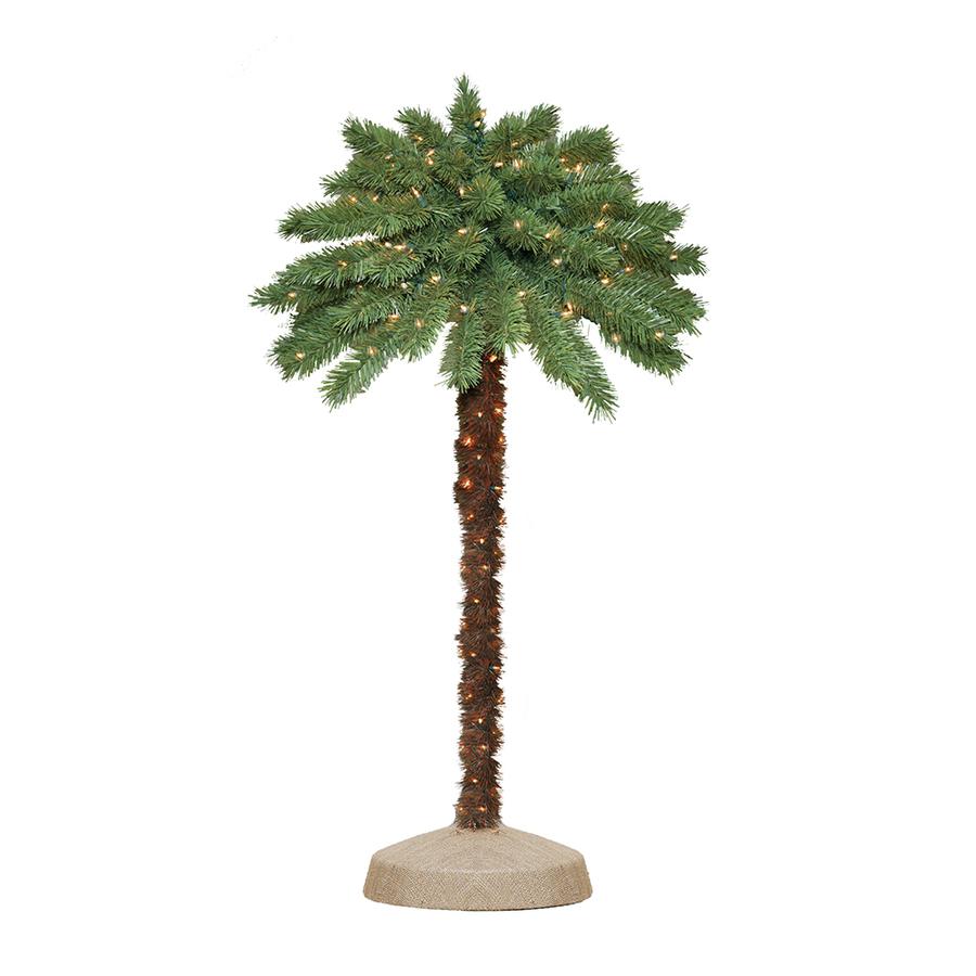 Shop 4-ft Indoor/Outdoor Palm Pre-Lit Decorative Specialty ...