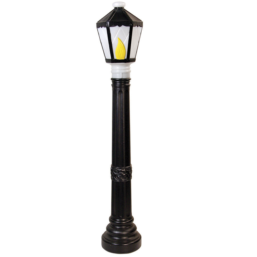 Outdoor Christmas Lamp Posts.Holiday Time 3 22 Ft Lighted Lamp Post Freestanding