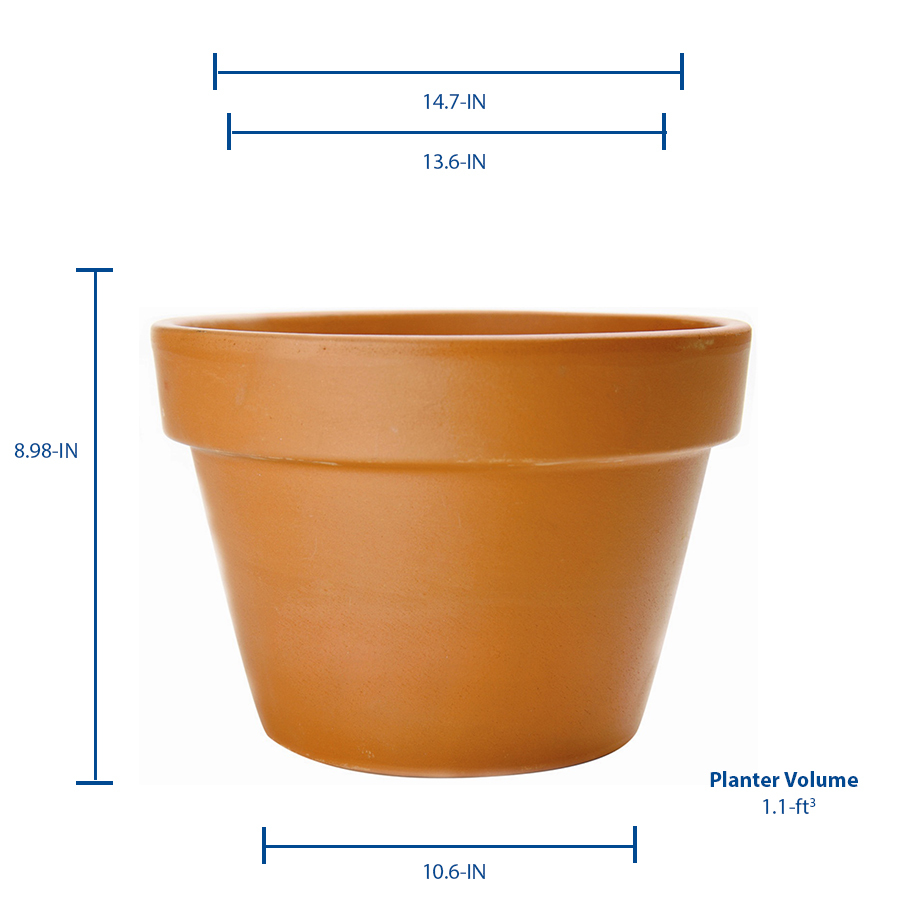 Pennington 14 5 In W X 9 In H Azalea Terracotta Clay Planter In The Pots Planters Department At Lowes Com