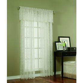 display product reviews for cecelia 84in ivory polyester rod pocket sheer single curtain panel