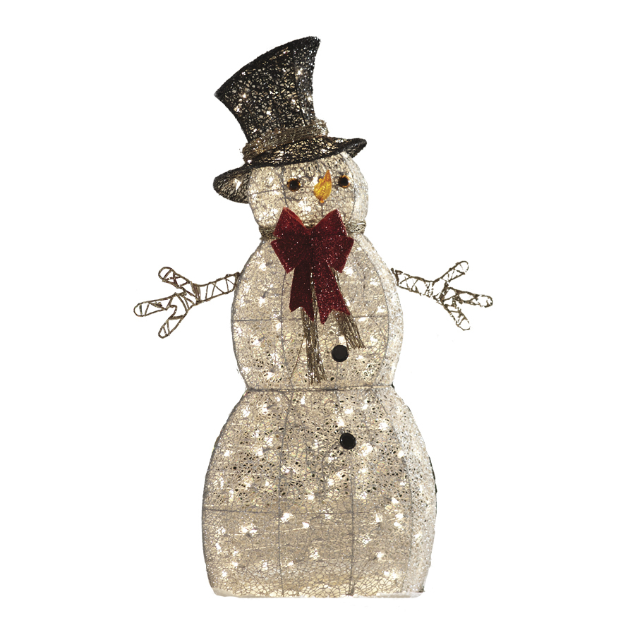 Shop Holiday Living 1-Piece 4-ft Snowman Outdoor Christmas ...