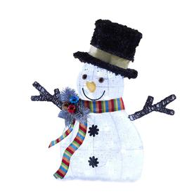 Holiday Living 26-In Snowman Sculpture With White Led Lights 091-181126060-0