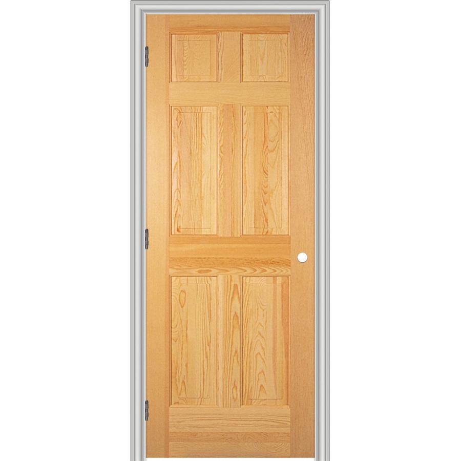 Shop reliabilt 6 panel solid core no skin pine right - Single panel prehung interior doors ...