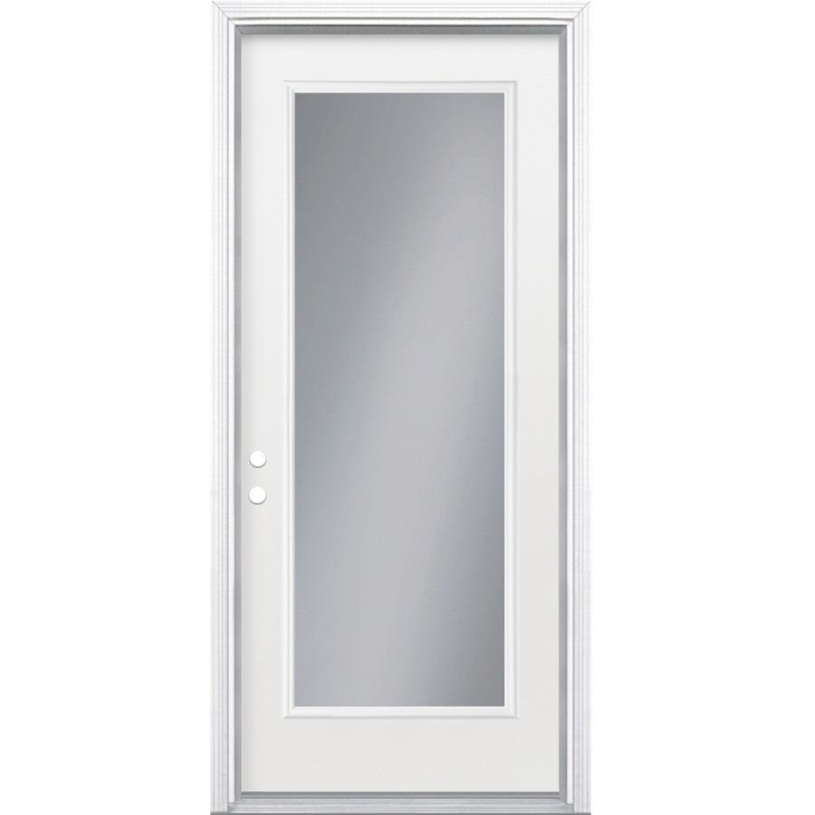 Lowes Exterior Doors: Shop ReliaBilt Full Lite Inswing Steel Entry Door At Lowes.com