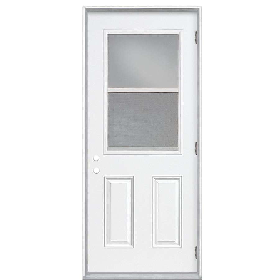 Shop Reliabilt Half Lite Prehung Outswing Steel Entry Door