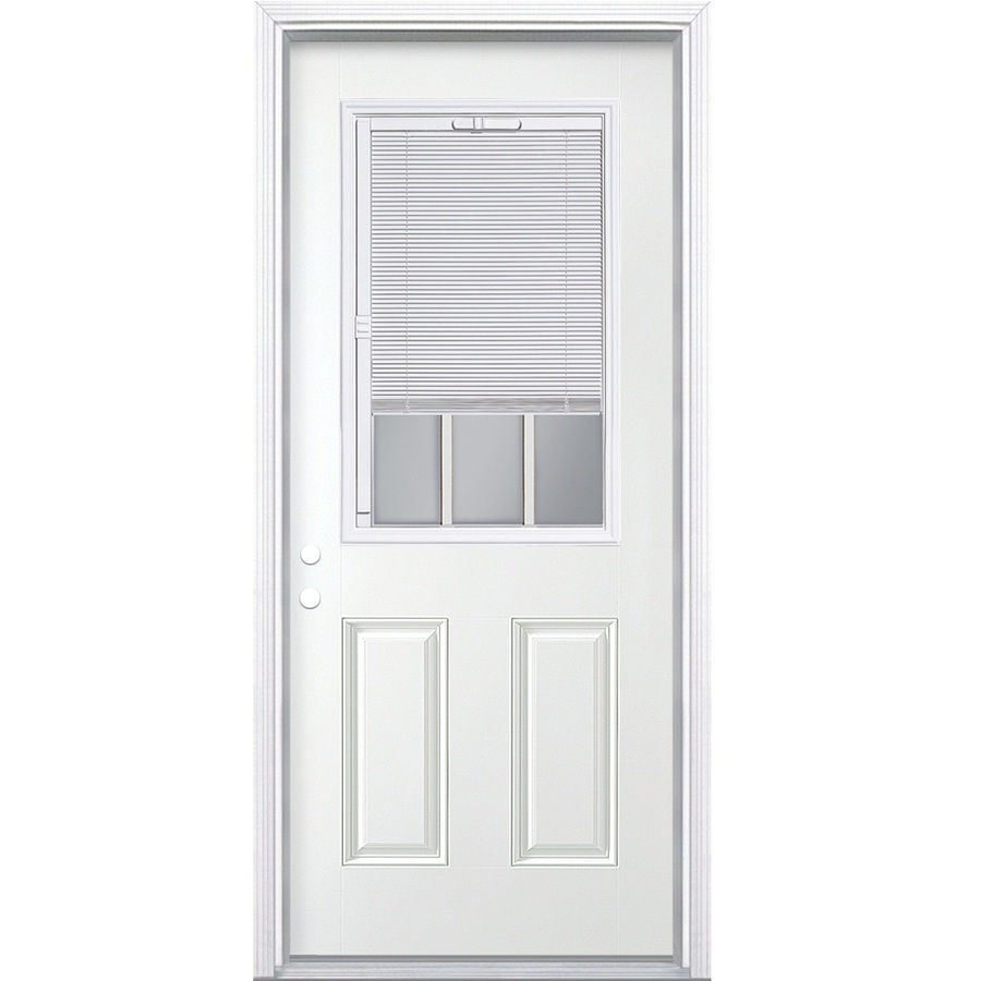 Lowes Exterior Doors: Shop ReliaBilt Blinds Between The Glass Half Lite Prehung