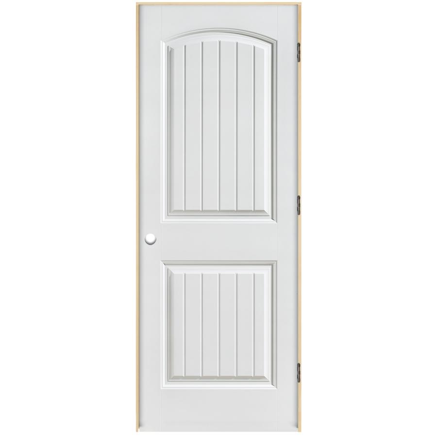 Shop reliabilt 2 panel round top plank hollow core smooth - Single panel prehung interior doors ...