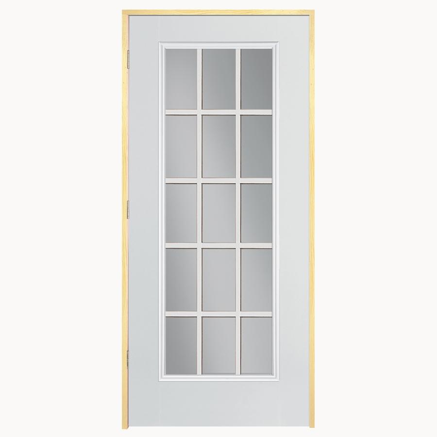 Shop ReliaBilt 15-Lite Prehung Outswing Steel Entry Door