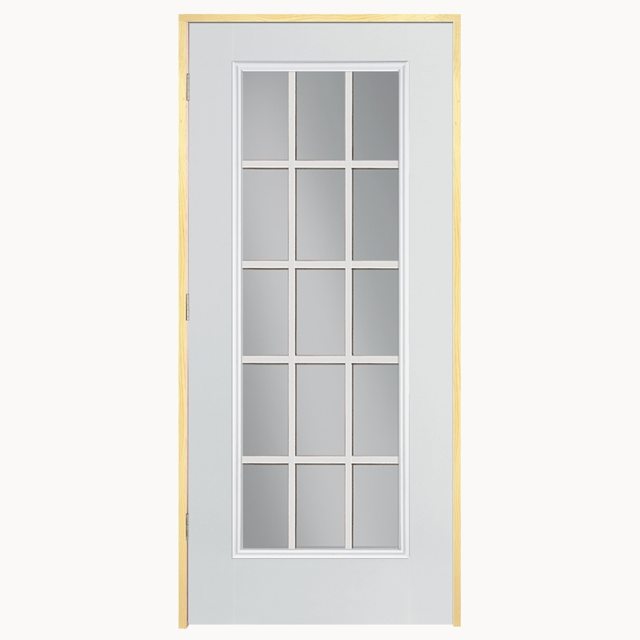 Mobile Home Exterior Doors Lowes: Shop ReliaBilt 15-Lite Prehung Outswing Steel Entry Door
